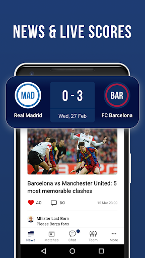Barcelona Live — Not official app for FC Barca Fan screenshot 2