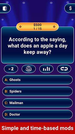 Millionaire 2021 -  Free Trivia Quiz Offline Game 2 تصوير الشاشة