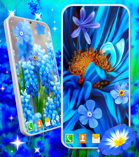 Blue Flowers Live Wallpaper 🌼 Flower 4K Wallpaper скриншот 2