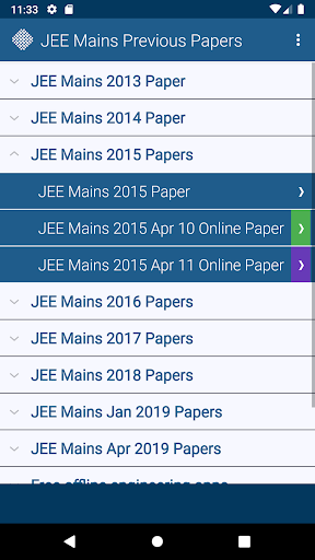 JEE Mains Previous Papers Free 7 تصوير الشاشة