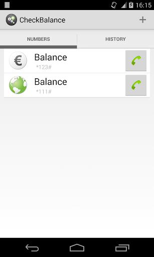 CheckBalance Widget screenshot 2