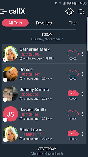 Call Recorder - Automatic Call Recorder - callX screenshot 1