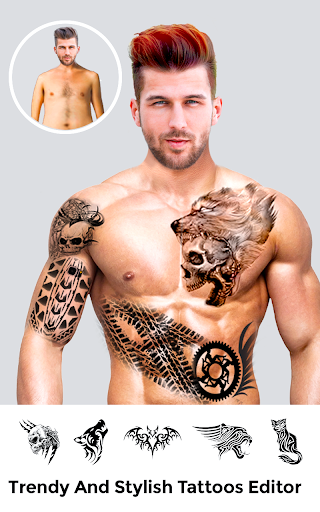 Men Body Styles SixPack tattoo - Photo Editor app screenshot 7