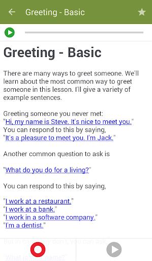 تعلم تحدث الانجليزية 3 تصوير الشاشة