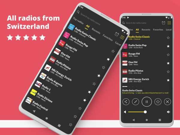 Swiss Radio: Free Radio Player, DAB Radio screenshot 1