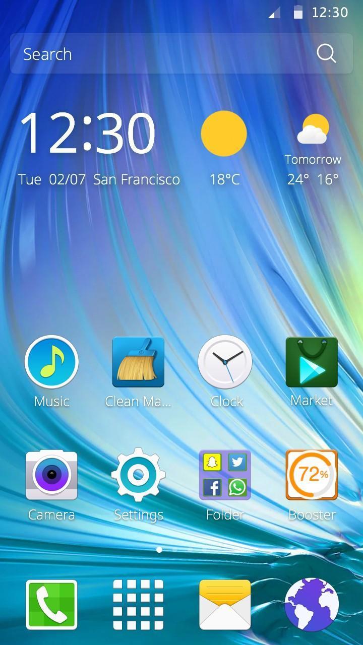Theme for Samsung Galaxy Note7 screenshot 1