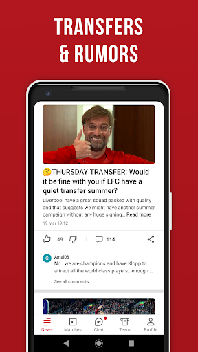 LFC Live – Unofficial app for Liverpool fans скриншот 4