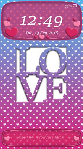 Lock Screen Pin Love Theme screenshot 4