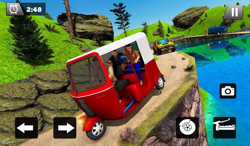 Tuk Tuk Driver Offroad Drive: Transport Passenger screenshot 8