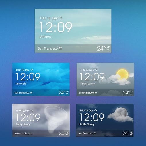 Z Style Weather Widget 3 تصوير الشاشة