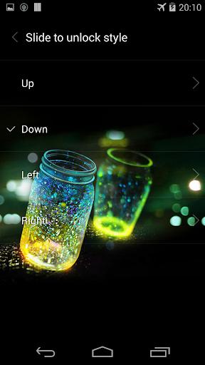 Fireflies lockscreen 14 تصوير الشاشة