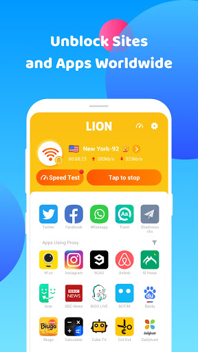 Lion VPN: Free VPN Proxy, Unblock Site VPN Browser screenshot 5