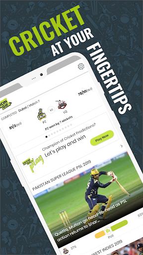 Cricingif - PSL 5 Live Cricket Score & News 1 تصوير الشاشة