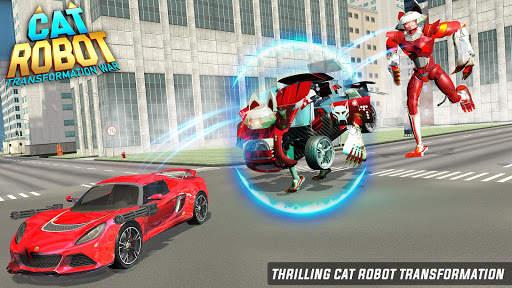 Cat Robot Car Game - Car Robot War 5 تصوير الشاشة