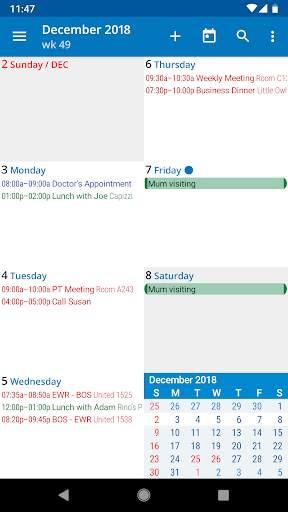 aCalendar - a calendar app for Android screenshot 4