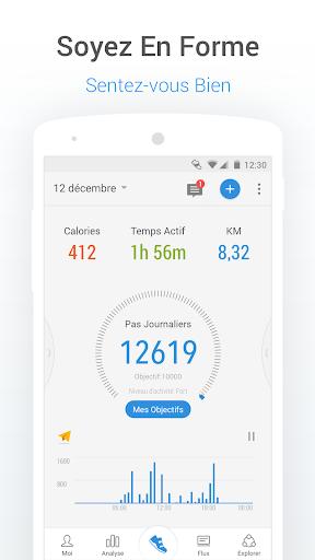 Podomètre gratuit - compteur de pas et de calories screenshot 1