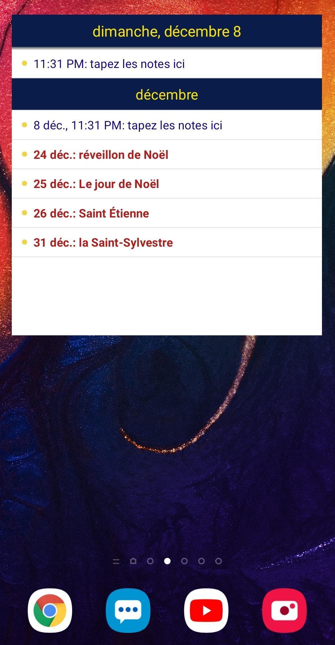Calendrier 2020 Français screenshot 5