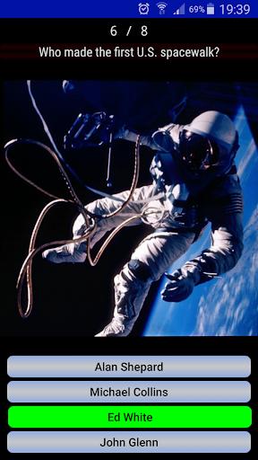 Astronautic Quiz 4 تصوير الشاشة