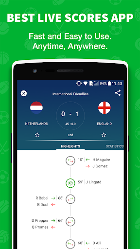 -نتائج مباشرة في كرة القدم 1 تصوير الشاشة