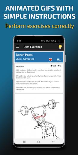 Gym Exercises & Workouts screenshot 4