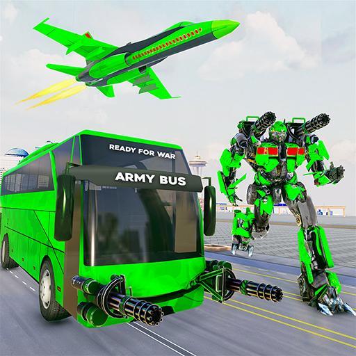 Army Bus Robot Transform Wars – Air jet robot game icon