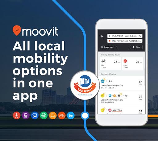 Moovit: Timing & Navigation for all Transit Types screenshot 1