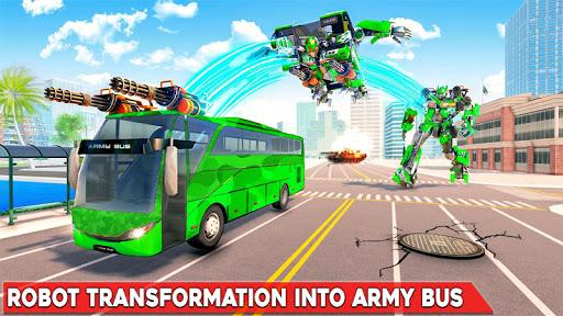Army Bus Robot Transform Wars – Air jet robot game screenshot 1