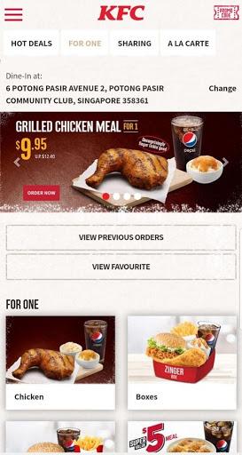 KFC Singapore screenshot 4