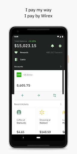 Wirex Visa Card & Multicurrency Wallet 🌎 1 تصوير الشاشة