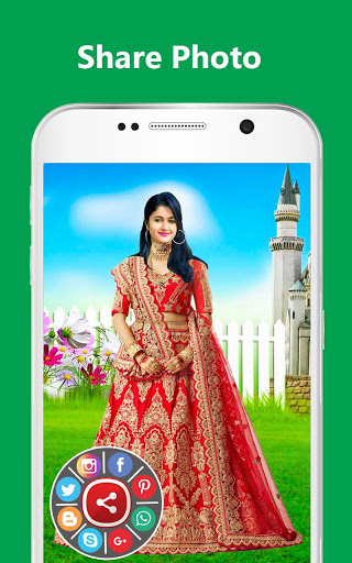 Bridal Lehenga, Lehenga Choli & Saree Photo Editor screenshot 15