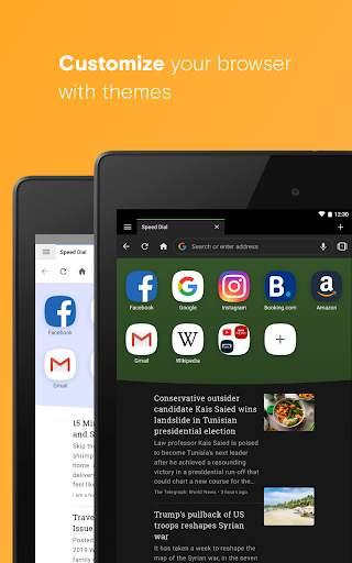 Opera browser with free VPN screenshot 10