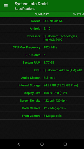 System Info Droid (Info, Tools and Benchmark) screenshot 2