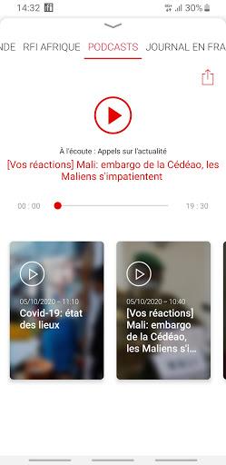RFI - L'actualité mondiale en direct et podcast 2 تصوير الشاشة