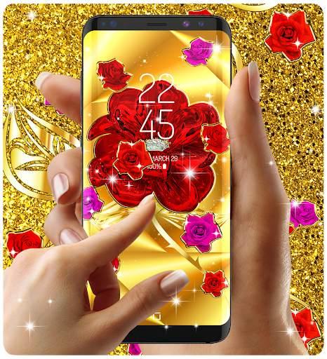 Gold rose live wallpaper screenshot 7