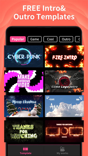 Intro Maker - music intro video editor screenshot 1