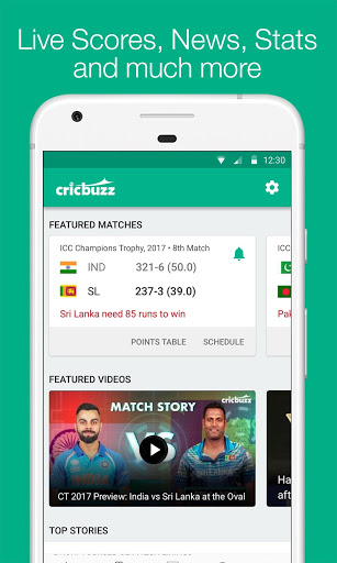 Cricbuzz - Live Cricket Scores & News स्क्रीनशॉट 1