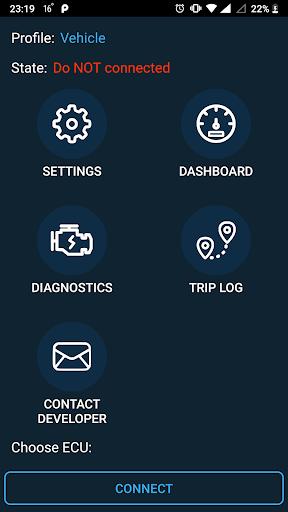 Obd Mary – OBD2 car scanner & dashboard on ELM327 screenshot 1