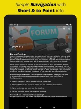 Make Money Online: Free Work from Home Ideas App screenshot 8