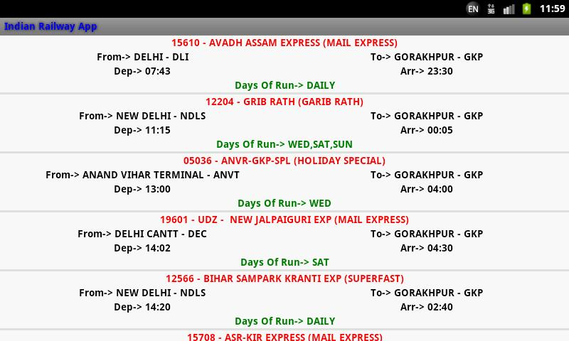 Indian Railway screenshot 6