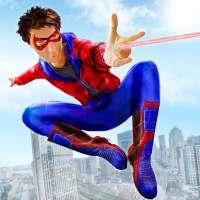 Spider Boy Superhero fighting
