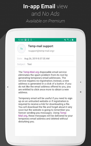 Temp Mail - Free Instant Temporary Email Address screenshot 12