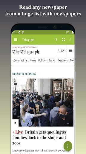 World Newspapers – Local News & International News screenshot 1