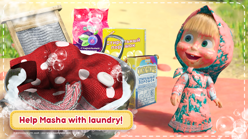 Masha and the Bear: House Cleaning Games for Girls screenshot 1