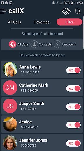 Call Recorder - Automatic Call Recorder - callX screenshot 6