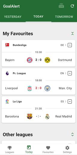 GoalAlert - The fastest football app 5 تصوير الشاشة