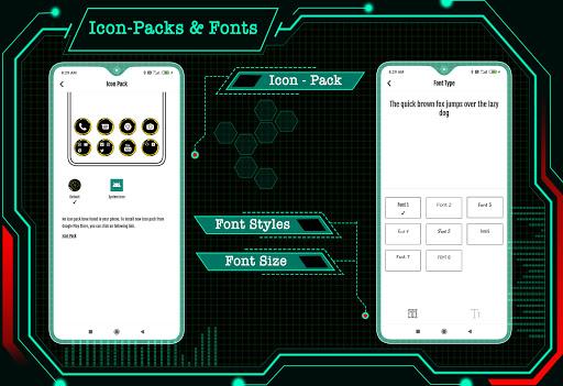 Circuit Launcher 2021 App lock, Hitech Wallpaper 7 تصوير الشاشة
