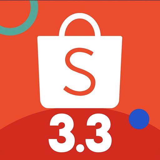 Shopee 3.3 Mega Shopping Sale أيقونة