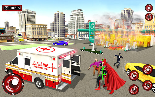 Superhero Light Robot Rescue: Speed Hero Games screenshot 2