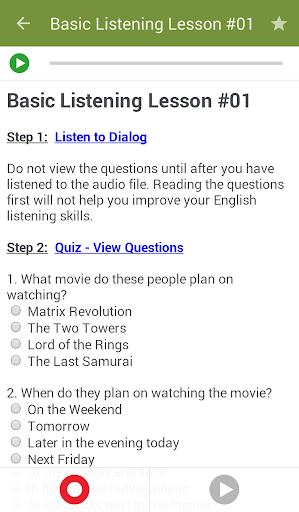 تعلم تحدث الانجليزية 5 تصوير الشاشة