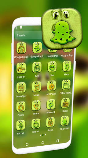Cute Frog Cartoon Launcher Theme screenshot 7